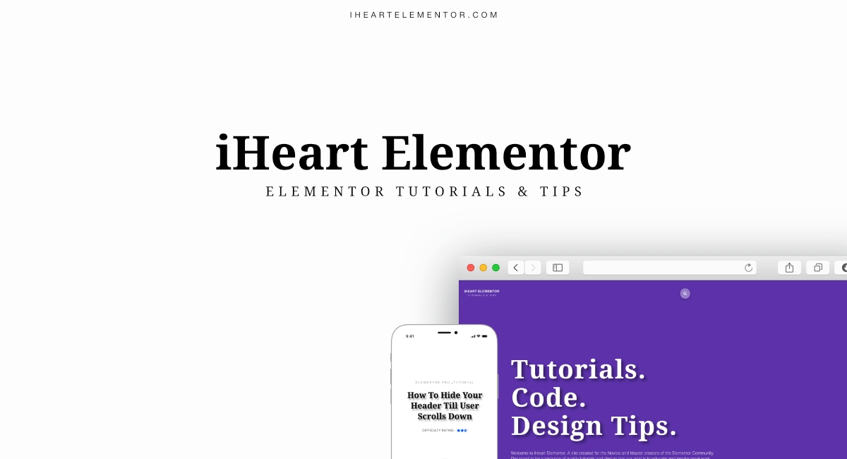 How To Make A Fixed Vertical Header | iHeart Elementor